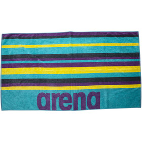 arena Beach Multistripes Handdoek, mint/multi
